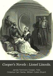 Cooper's Novels: Lionel Lincoln