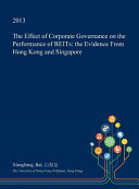 The Effect of Corporate Governance on the Performance of Reits