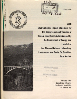 Conveyance and Transfer of Certain Land Tracts Administered by the Department of Energy and Located at Los Alamos National Laboratory