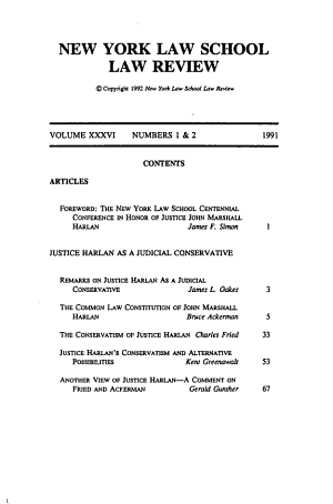 Centennial Conference in Honor of Justice John Marshall Harlan PDF