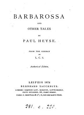 Barbarossa  and other tales  from the Germ  by L C S  PDF