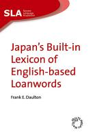 Japan s Built in Lexicon of English based Loanwords PDF