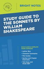 Study Guide to The Sonnets by William Shakespeare
