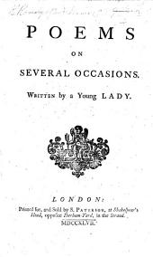 Poems on several occasions. Written by a young lady (C. Ramsay).