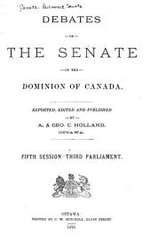 Debates of the Senate of the Dominion of Canada: Official Report