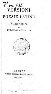Opere dell'abate Melchior Cesarotti padovano. Volume 1. [-40.]: Versioni poesie latine e iscrizioni di Melchior Cesarotti, Volume 33
