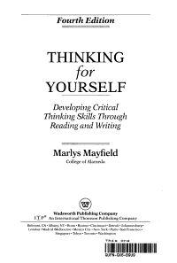 Thinking for Yourself 004 PDF