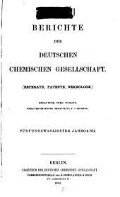 Berichte der Deutschen Chemischen Gesellschaft: Band 25