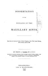 Dissertation on the Diseases of the Maxillary Sinus