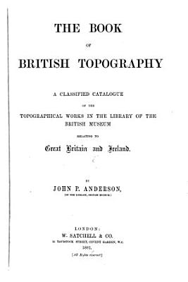 The Book of British Topography PDF