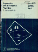 Population and Economic Planning