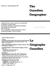 Géographe Canadien