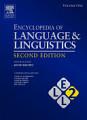Encyclopedia of Language and Linguistics
