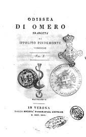 Odissea di Omero tradotta da Ippolito Pindemonte veronese Vol. 1. [-2.]: Volume 1