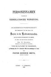 Personennamen volgens de Nederlandsche wetgeving