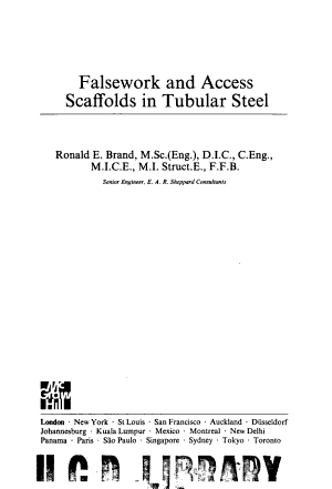 Falsework and Access Scaffolds in Tubular Steel PDF