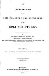 An Introduction to the Critical Study of the Holy Scriptures: Volume 2