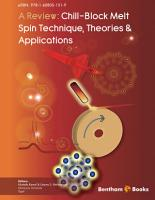A Review  Chill Block Melt Spin Technique  Theories   Applications PDF