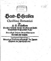 Sendschreiben an H. D. Schefflern ... betreffend Johann Adam Scherzers: Soviel als nichts