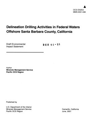 Delineation Drilling Activities in Federal Waters Offshore  Santa Barbara County PDF