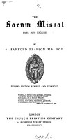 The Sarum Missal  in English  by A H  Pearson   Done into Engl  by A H  Pearson PDF