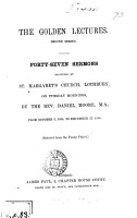 The golden lectures  selected from the Penny pulpit PDF