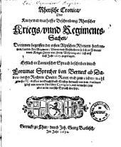 Rhetische Cronica, oder kurtze und warhaffte Beschreibung Rhetischer Kriegs, unnd Regimentssachen: darinnen begriffen der ersten alpischen Rhetiern Herkommen, Lands-Art ... so sich ... biß auff daß Jahr 1617 zugetragen