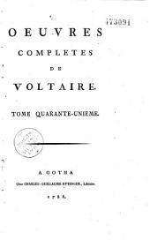 Oeuvres complètes de Voltaire: Volume34