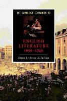 The Cambridge Companion to English Literature  1650 1740 PDF