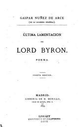 Ultima lamentación de Lord Byron