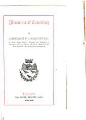 Memorials of Canterbury