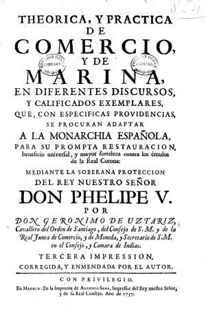 Theorica, y practica de comercio, y de marina ... Tercera impression, corregida, y enmendada por el autor