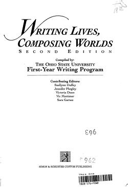 Writing Lives Composing Worlds PDF