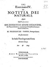 Exercitatio IV. de notitia Dei naturali