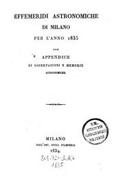 Effemeridi astronomiche di Milano per l'anno ...