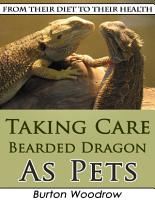 Taking Care Bearded Dragon As Pets  From Their Diet to Their Health PDF
