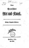 Von deutscher Art und Kunst PDF