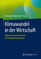 Klimawandel in der Wirtschaft PDF