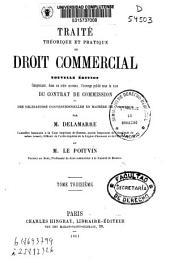 Traité théorique et pratique de droit commercial: Volume3