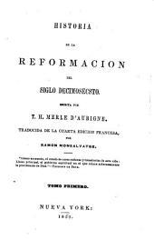 Historia de la Reformacion del siglo decimosecsto