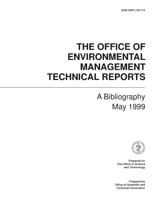 The Office of Environmental Management Technical Reports: A Bibliography