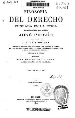 Filosofia Del Derecho Fundada En La Etica