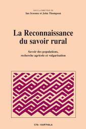 La reconnaissance du savoir rural