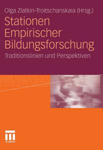 Stationen Empirischer Bildungsforschung PDF