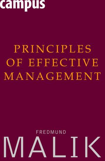 Principles of Effective Management PDF
