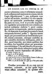 Disp. iur. septima selectiora iuris principia ad ordinem Digestorum exposita libri III. specimen II. continens