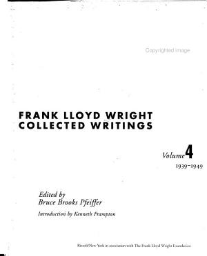 Frank Lloyd Wright Collected Writings PDF