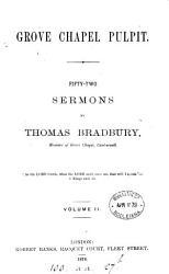 Grove Chapel Pulpit Sermons  Book PDF