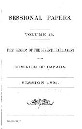 Sessional Papers of the Dominion of Canada: Volume 13