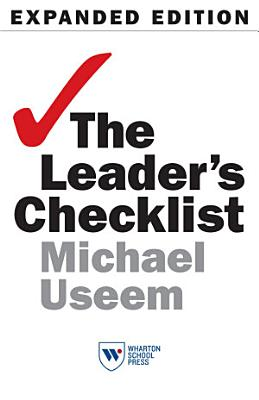 The Leader s Checklist  Expanded Edition